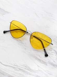 Модные овальные солнечные очки