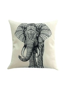 Elephant Print Pillowcase Cover