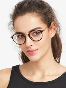Модные круглые очки с леопардовой оправой