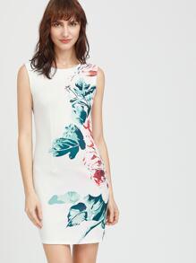 Florals Slit Back Sheath Dress
