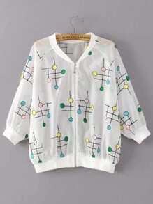Lollipop Embroidery Sheer Jacket