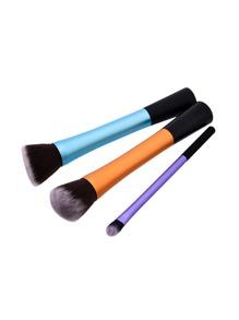 Set di pennello da trucco di blocco di colore 3pcs