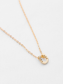 Hammered Charm Chain Necklace