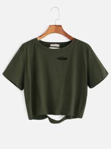 chemise courte cassé - Military Green