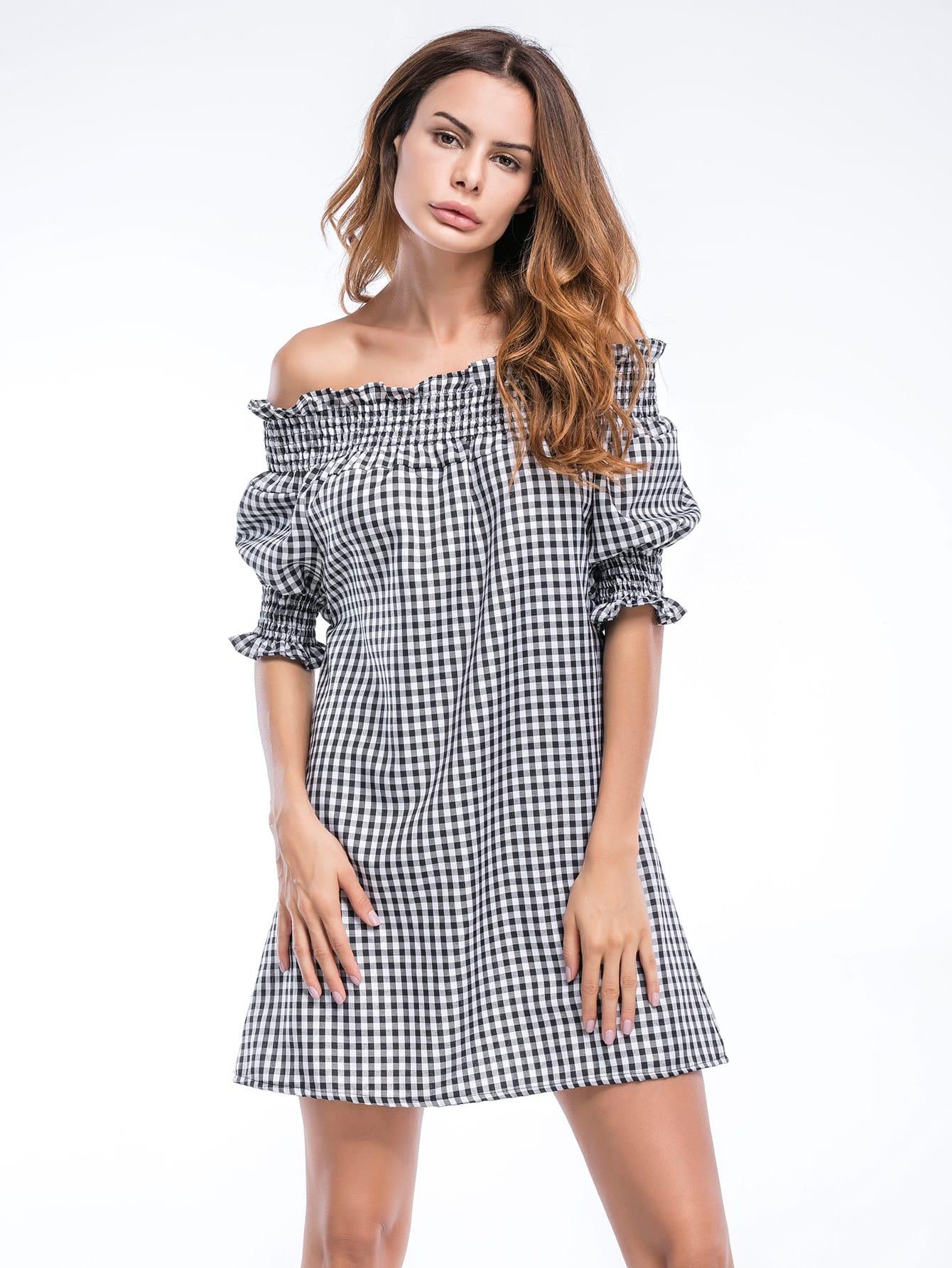 все цены на Bardot Gingham Frill Trim Dress