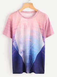 Ombre Printed Tee