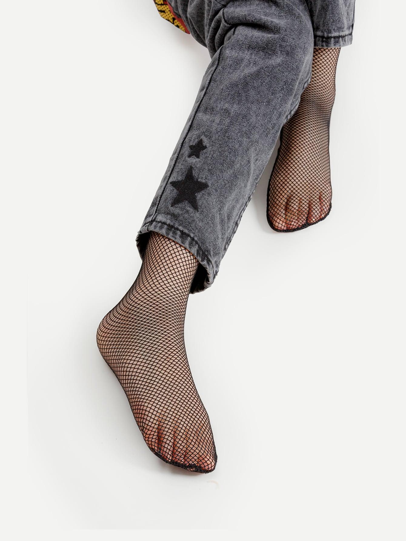 Фото Fishnet Calf Length Socks. Купить с доставкой