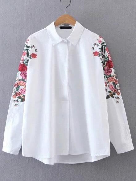 Фото Floral Embroidered Blouse. Купить с доставкой