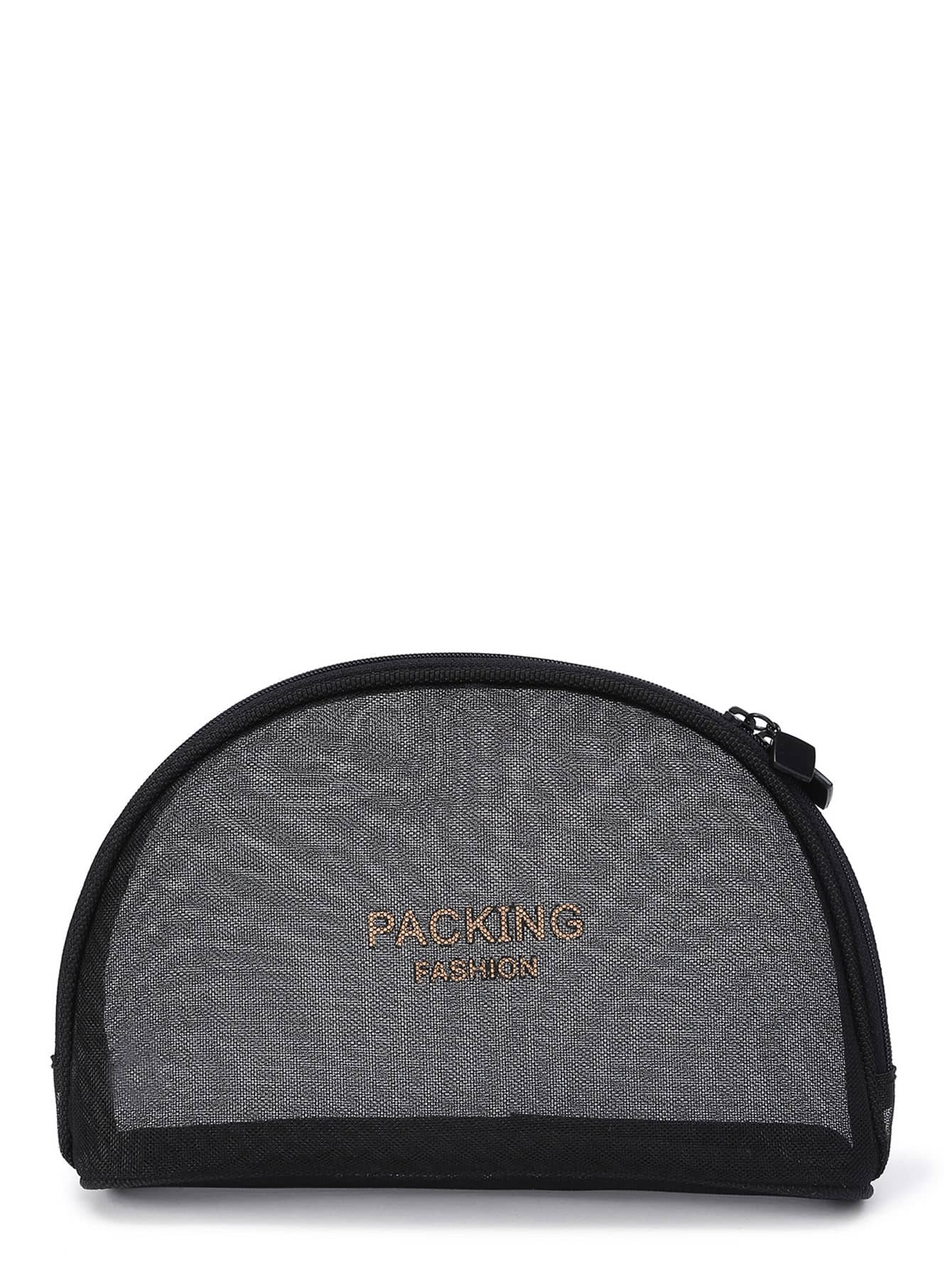 Mesh Design Makeup Bag