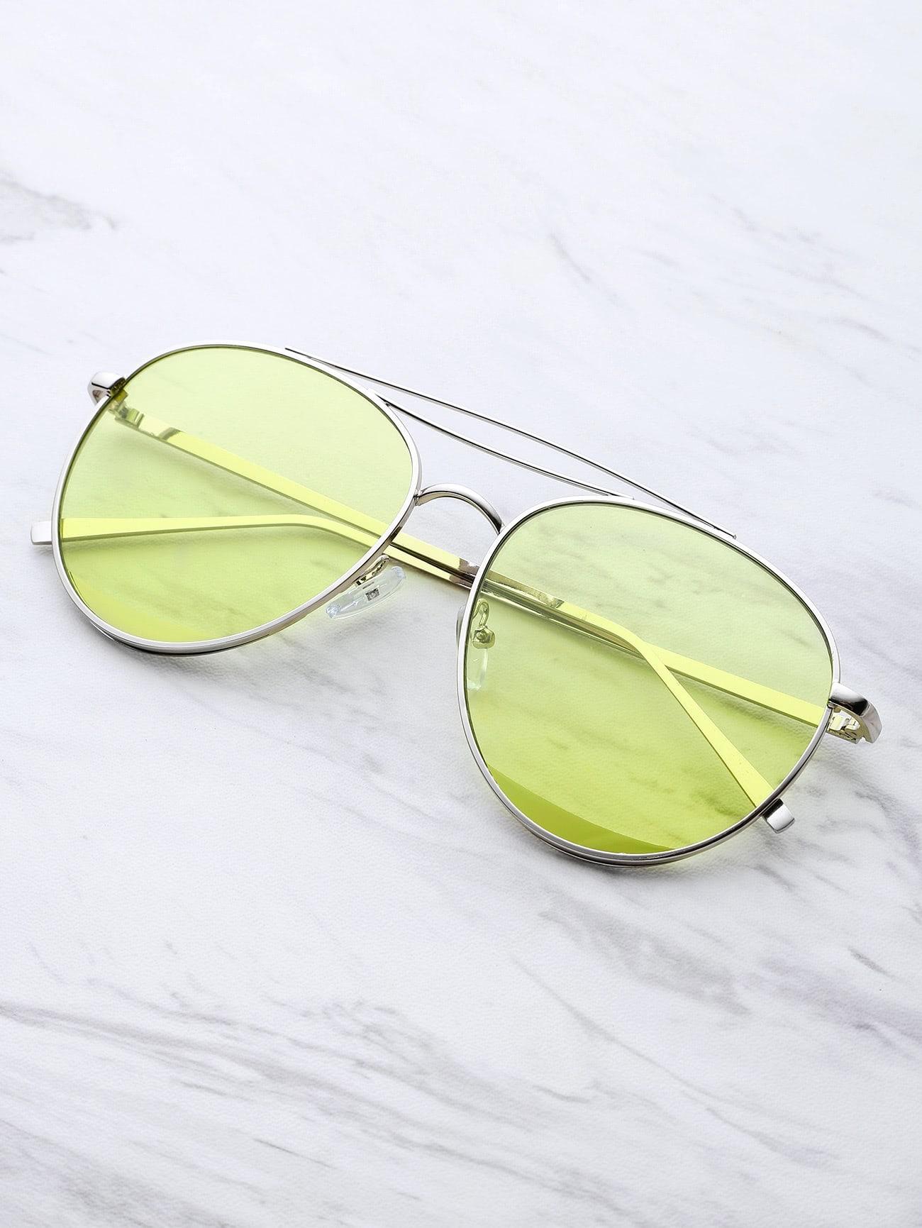 Фото Metal Top Bar Aviator Sunglasses. Купить с доставкой