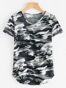 T-Shirt mit Tasche vorne