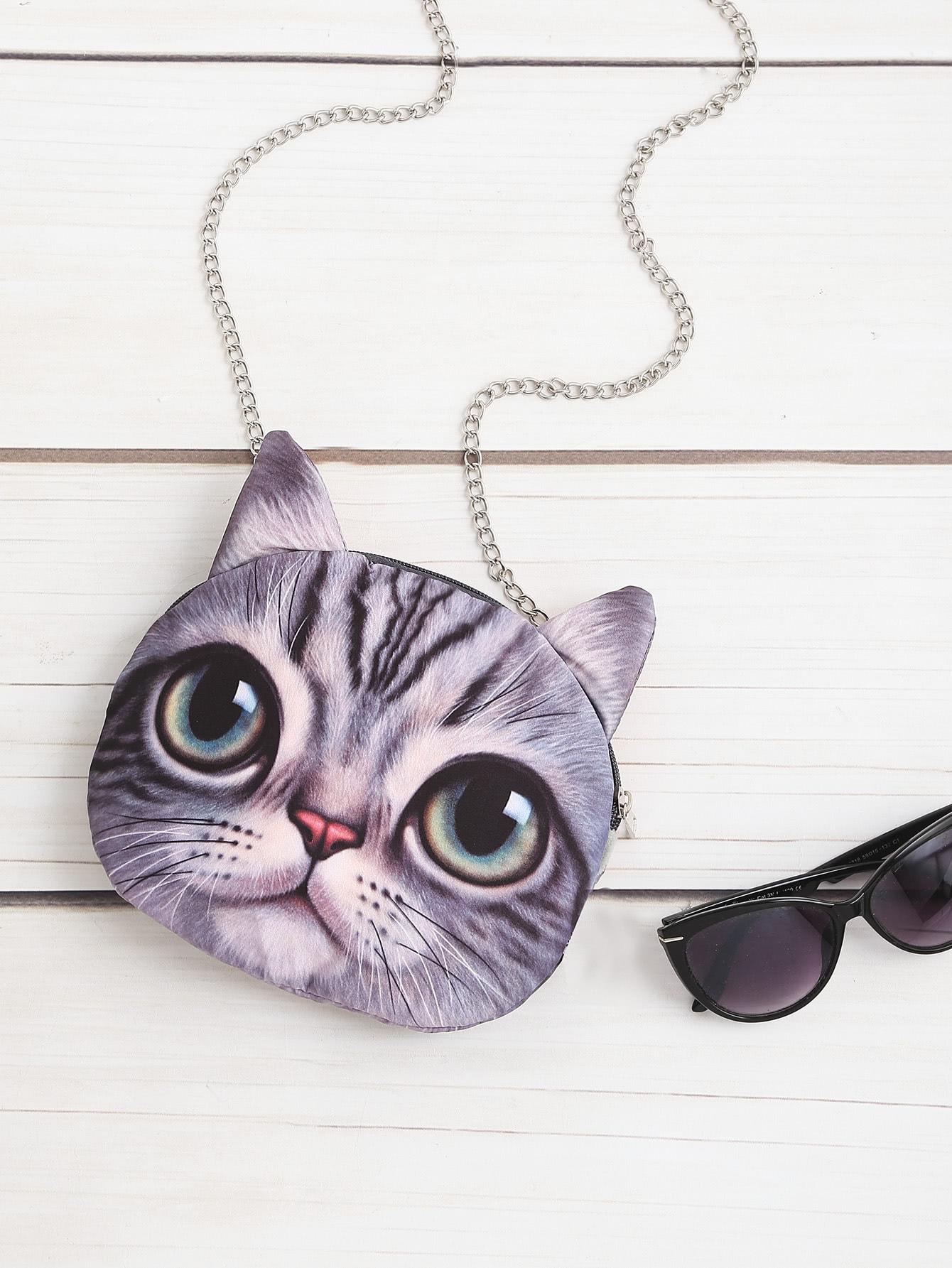 Фото Cat Shaped Crossbody Bag. Купить с доставкой