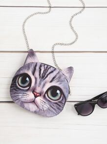 Cat Shaped Crossbody Bag