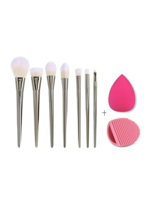 Ensemble de brosses de maquillage avec Puff