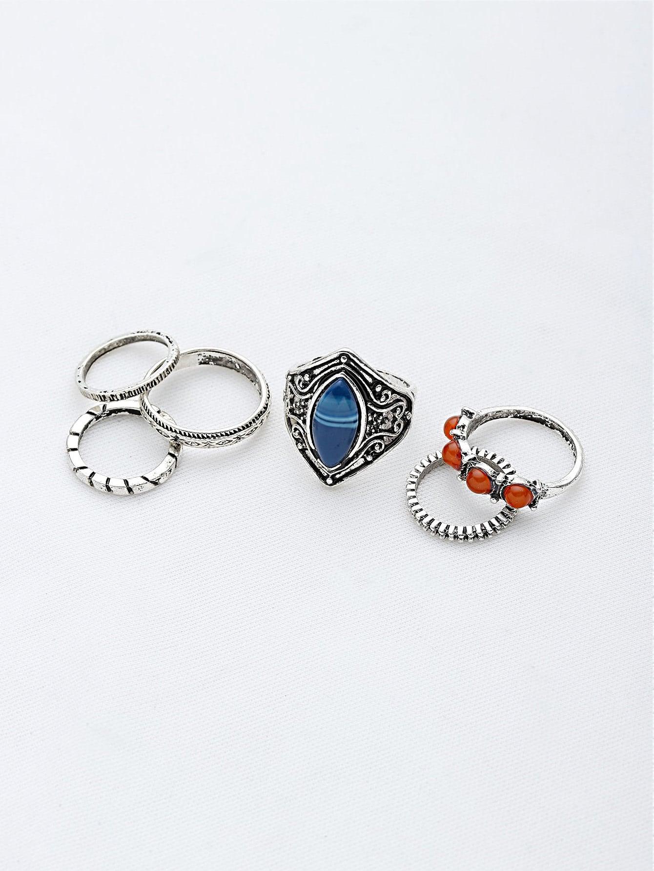 Фото Gemstone Etched Ring Pack. Купить с доставкой