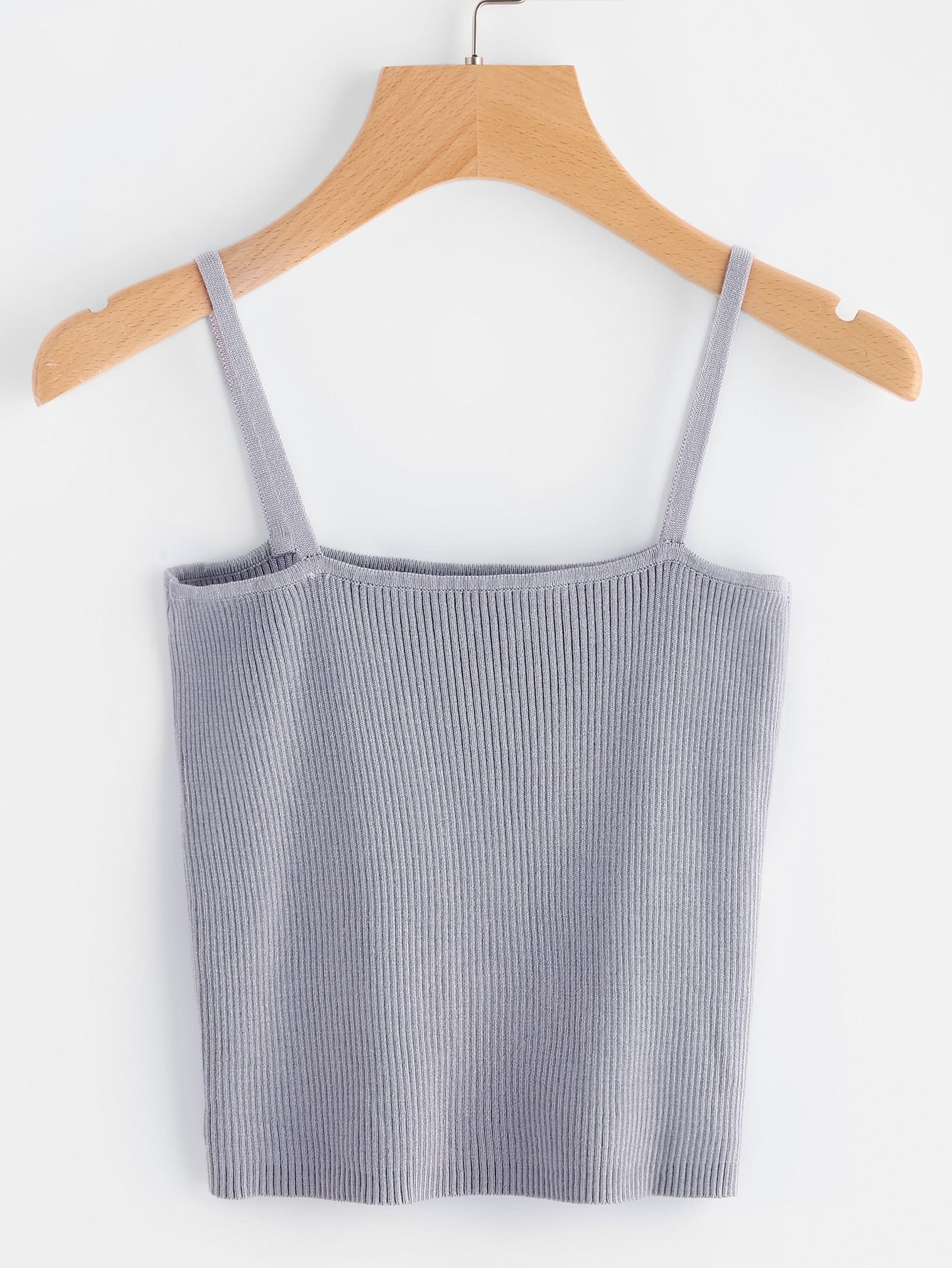 Rib Knit Crop Cami Top vest170418452