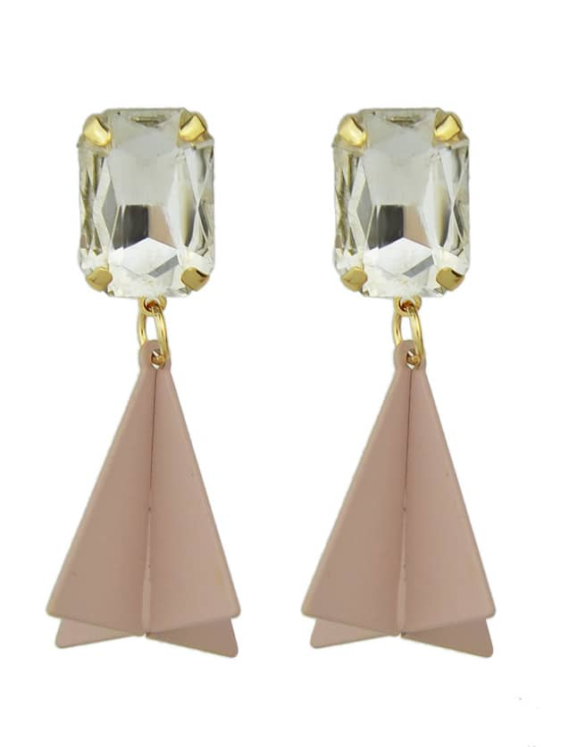 Фото New Design Rhinestone Geometric Hanging Earrings. Купить с доставкой