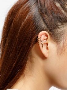 Boucle d'oreille enroulement serpentine une pièce