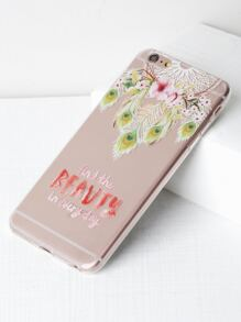 Dreamcatcher & Flower Print Clear iPhone 6 Plus/6s Plus Case