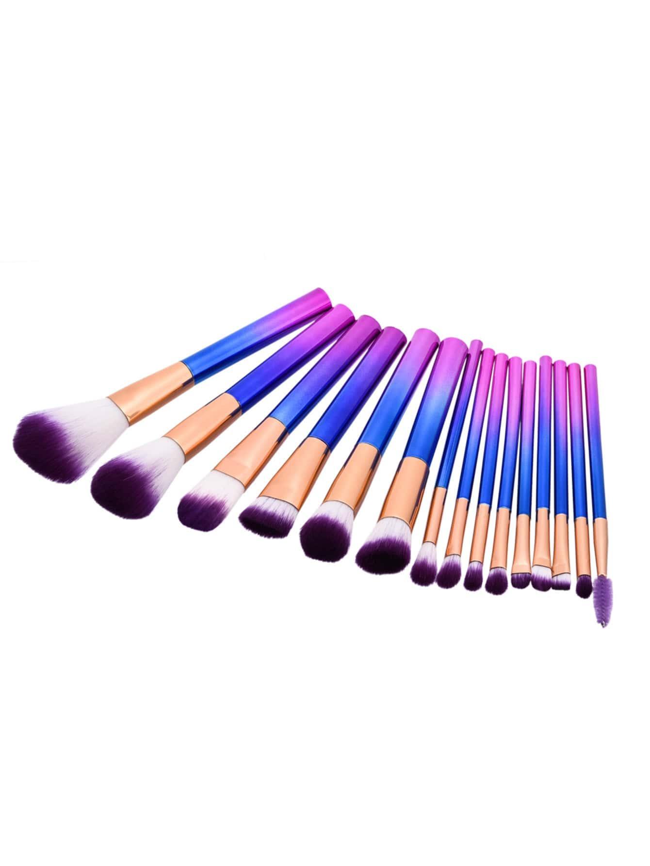Фото Ombre Professional Makeup Brush Set 15pcs. Купить с доставкой