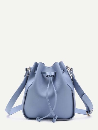 Drawstring PU Bucket Bag