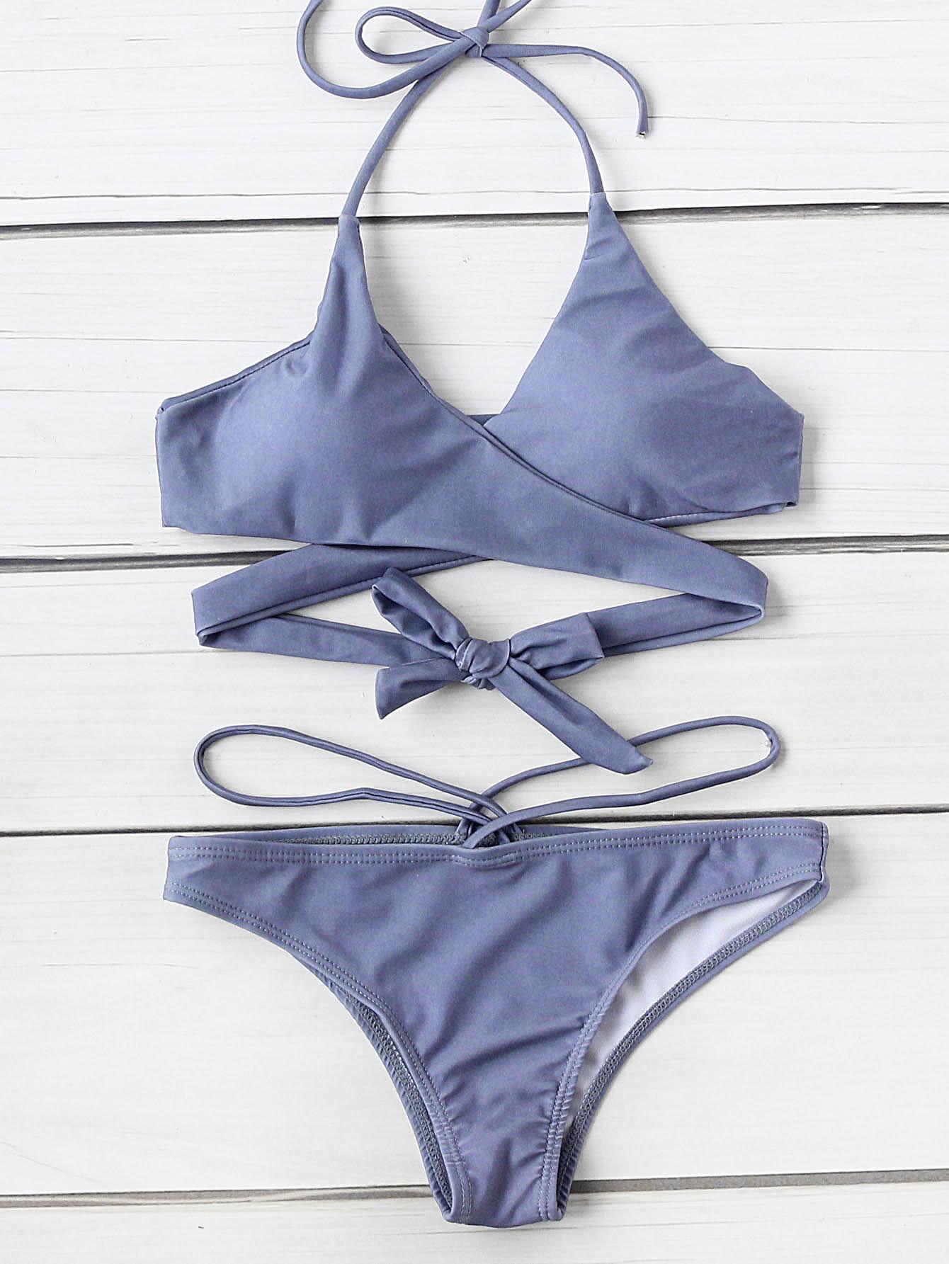 Halter Wrap Bikini Set swimwear170503312