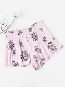 Pantaloncini con stampa floreale