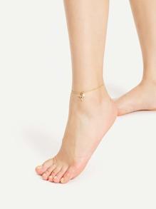 Bracelet avec étoile et perle artificielle