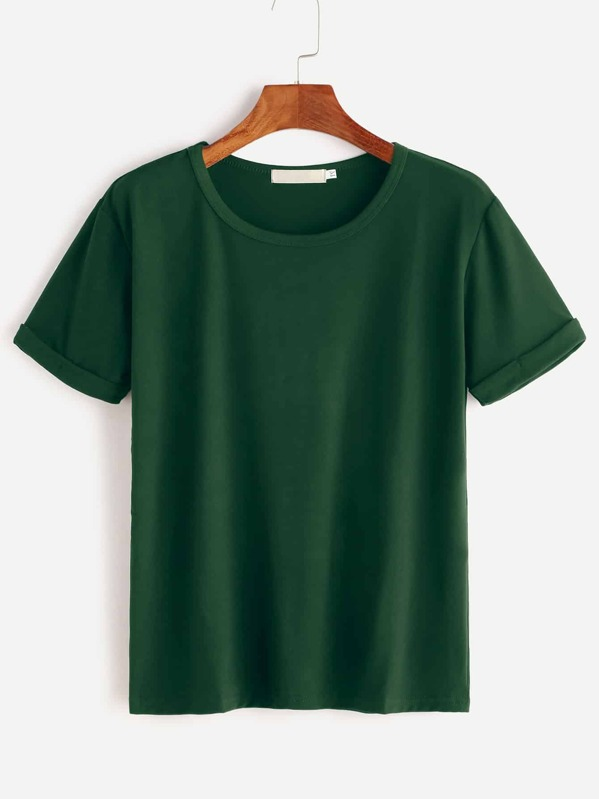 Rolled Cuff Tee, null