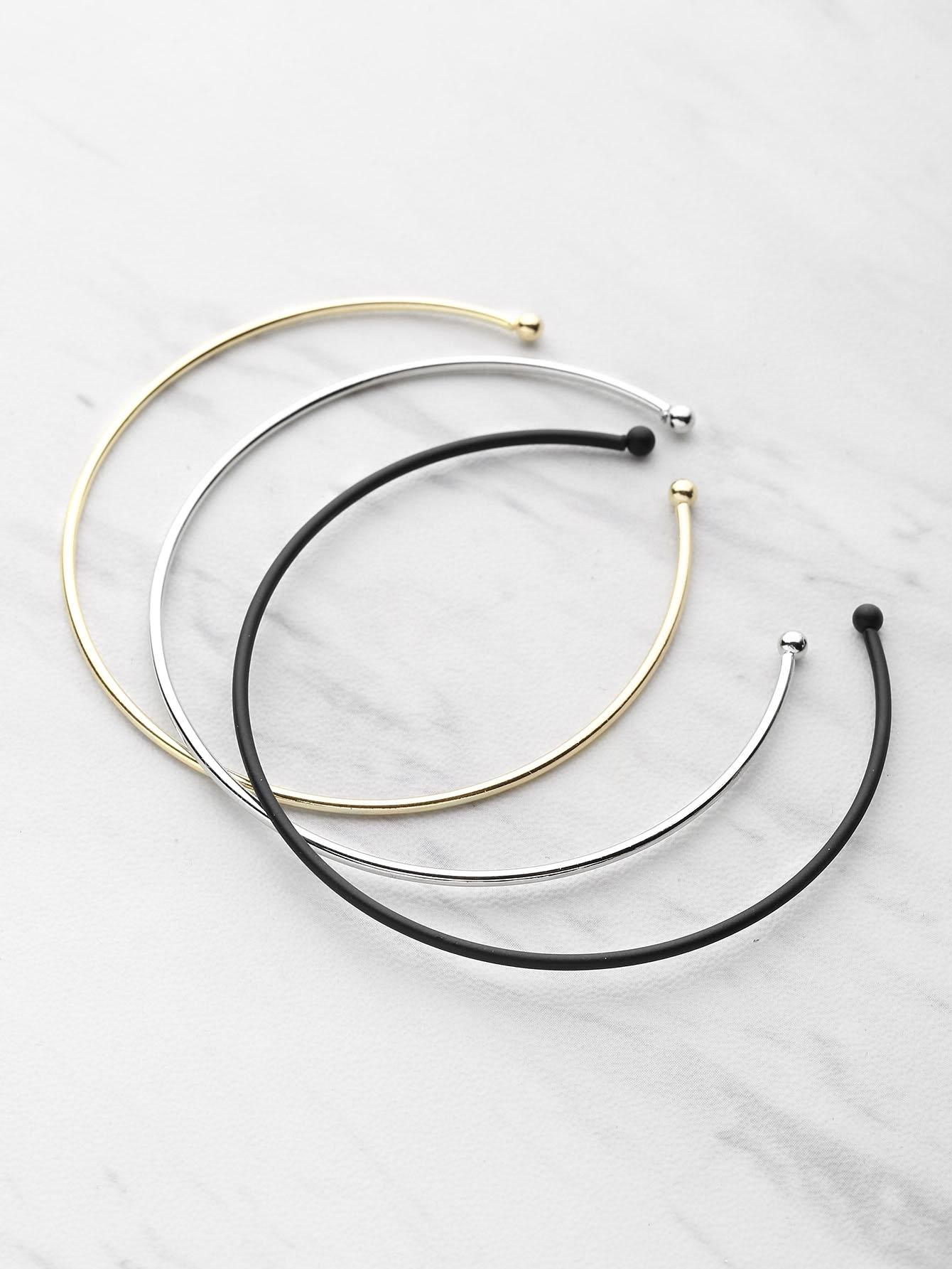 3 Color Cuff Bracelet 3pcs