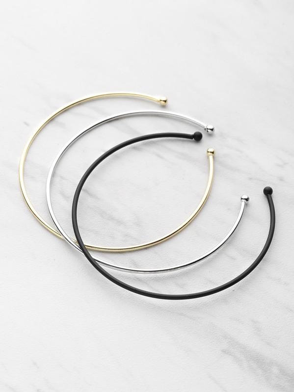 3 Color Cuff Bracelet 3pcs, null