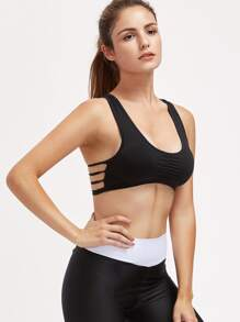 Active Cutout Racerback Gym Bra