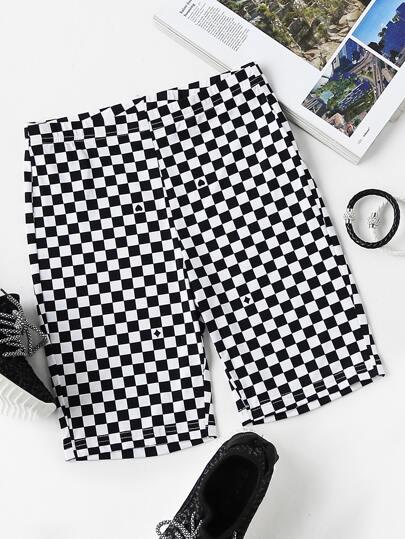 Модные короткие леггинсы с принтом