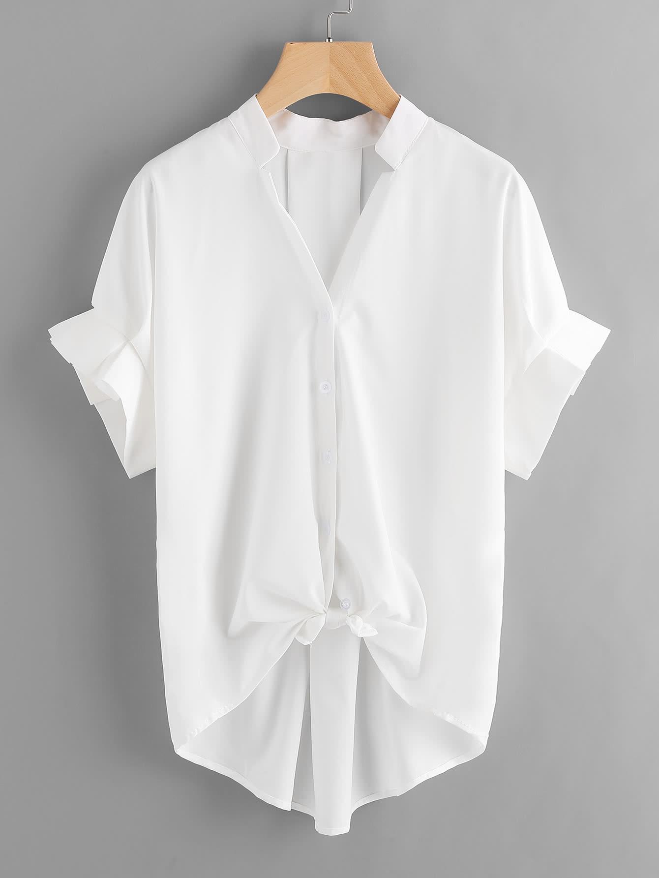 Купить Модная асимметричная блуза с оборкой, null, SheIn
