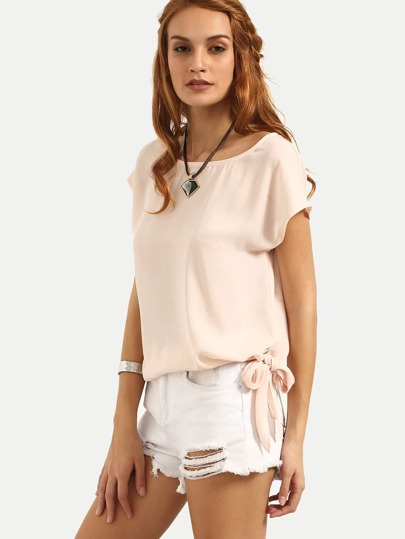 Cap Sleeve Tie Side Top