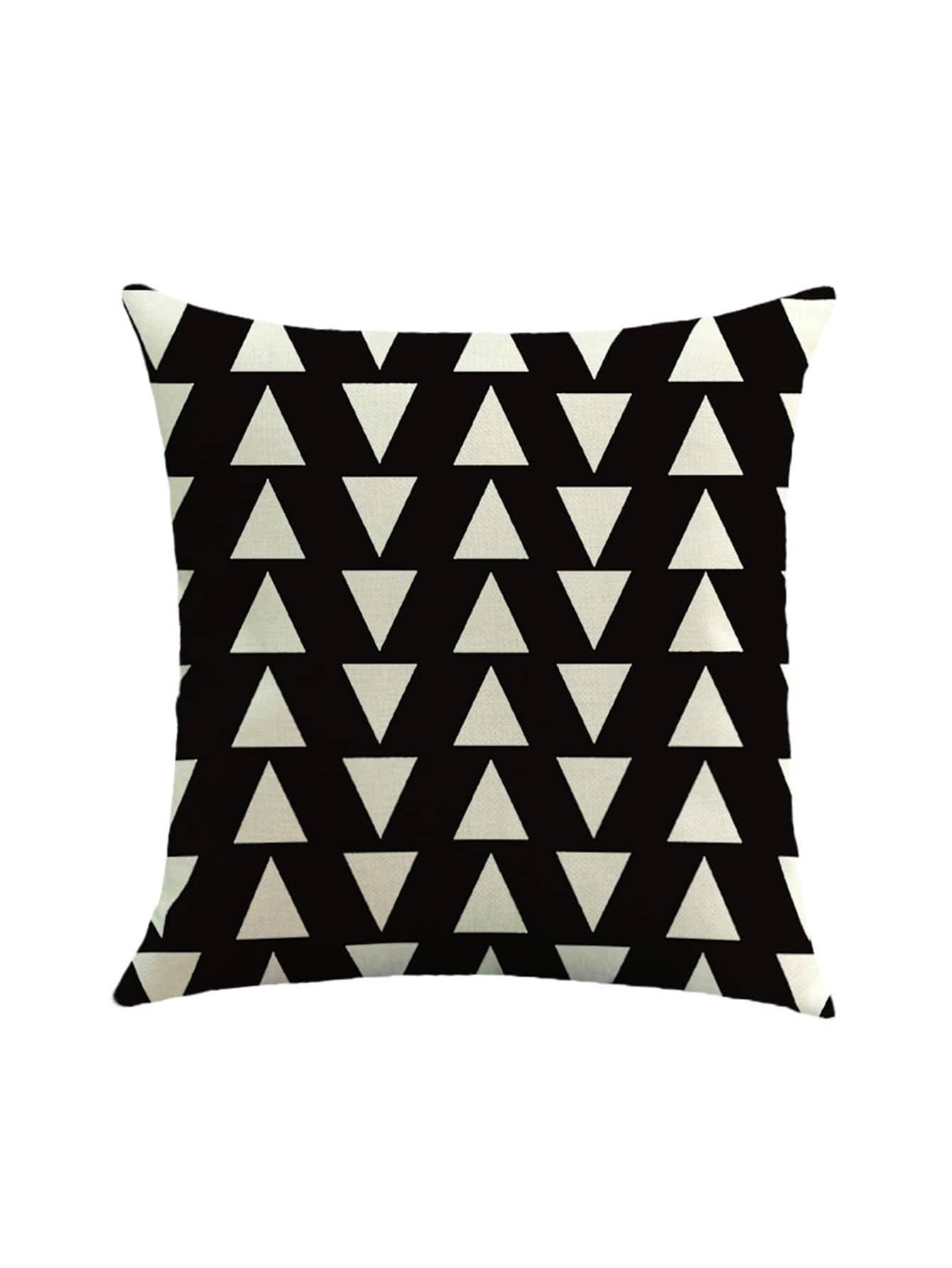 Фото Two Tone Triangle Print Pillowcase Cover. Купить с доставкой