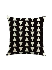 Two Tone Triangle Print Pillowcase Cover