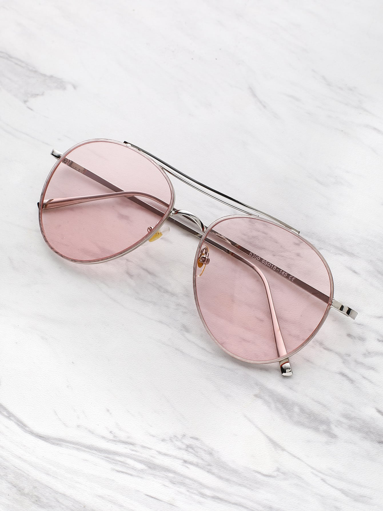Фото Contrast Top Bar Aviator Sunglasses. Купить с доставкой