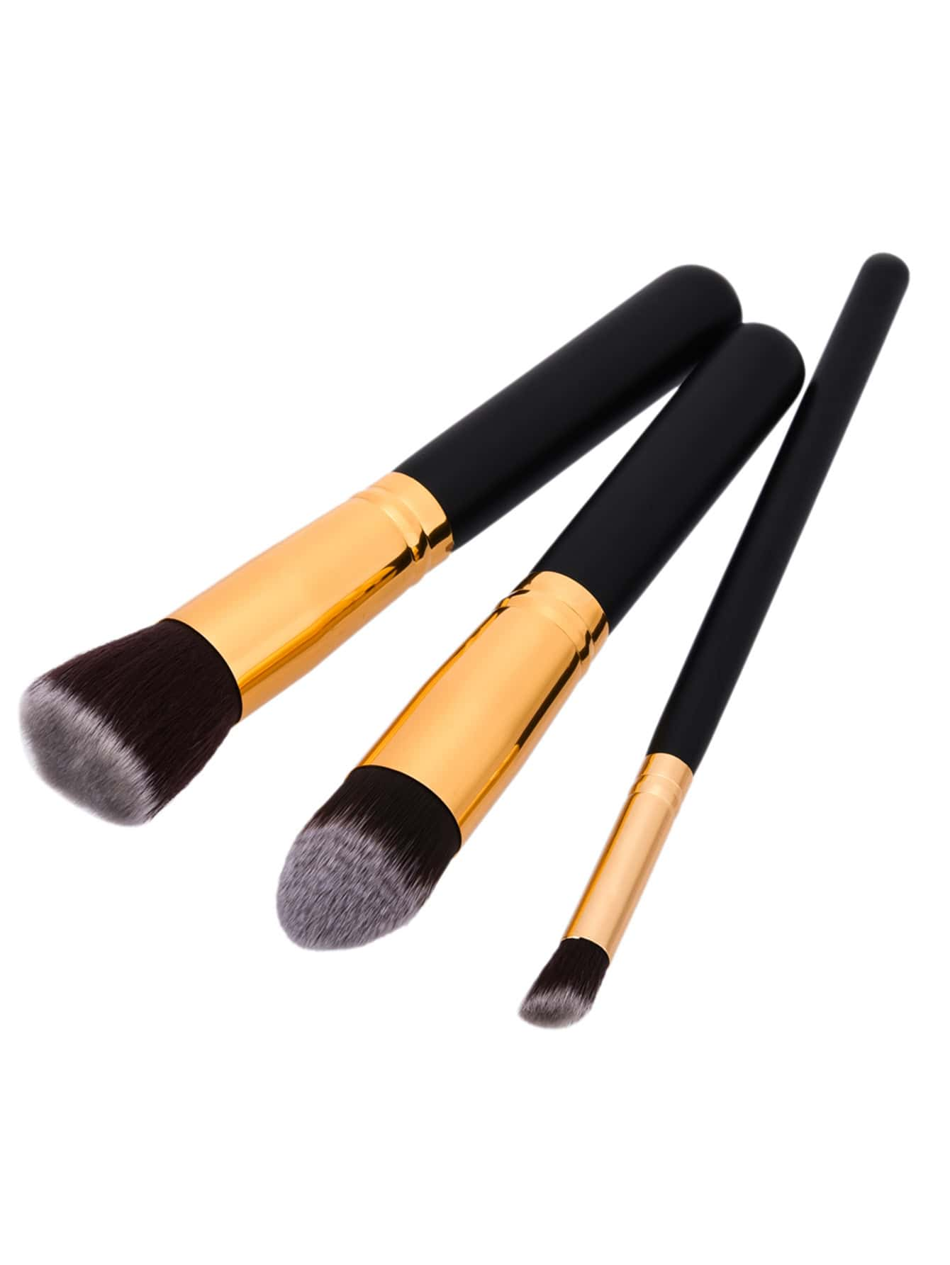 Two Tone Professional Makeup Brush Set 3pcs two tone drop shoulder sweatshirt