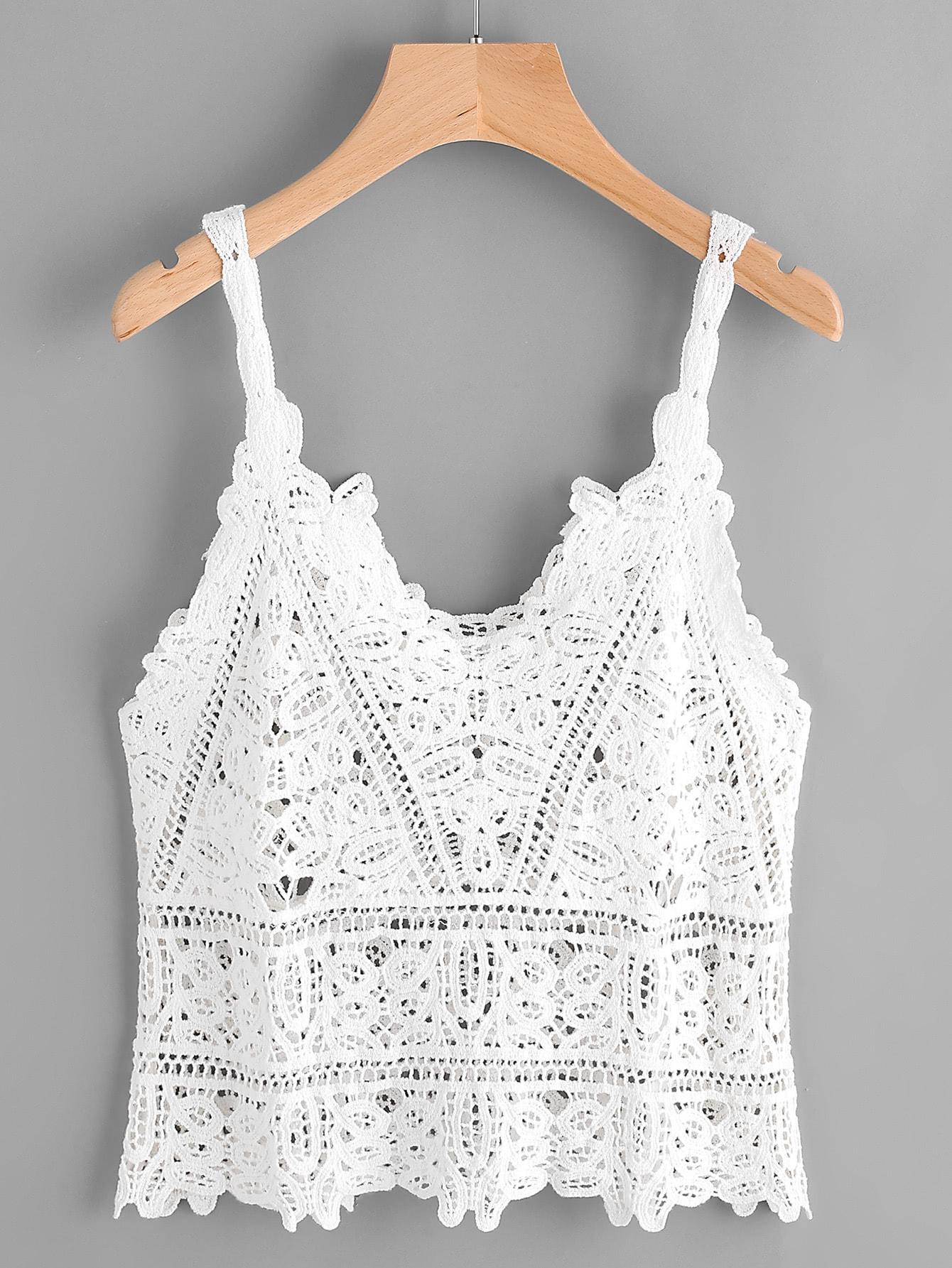 Фото Crochet Lace Cami Top. Купить с доставкой