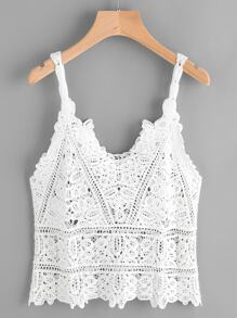 Crochet Lace Cami Top