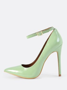 Patent Ankle Strap Pumps MINT