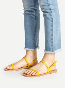 Simple Strappy Flat Sandals