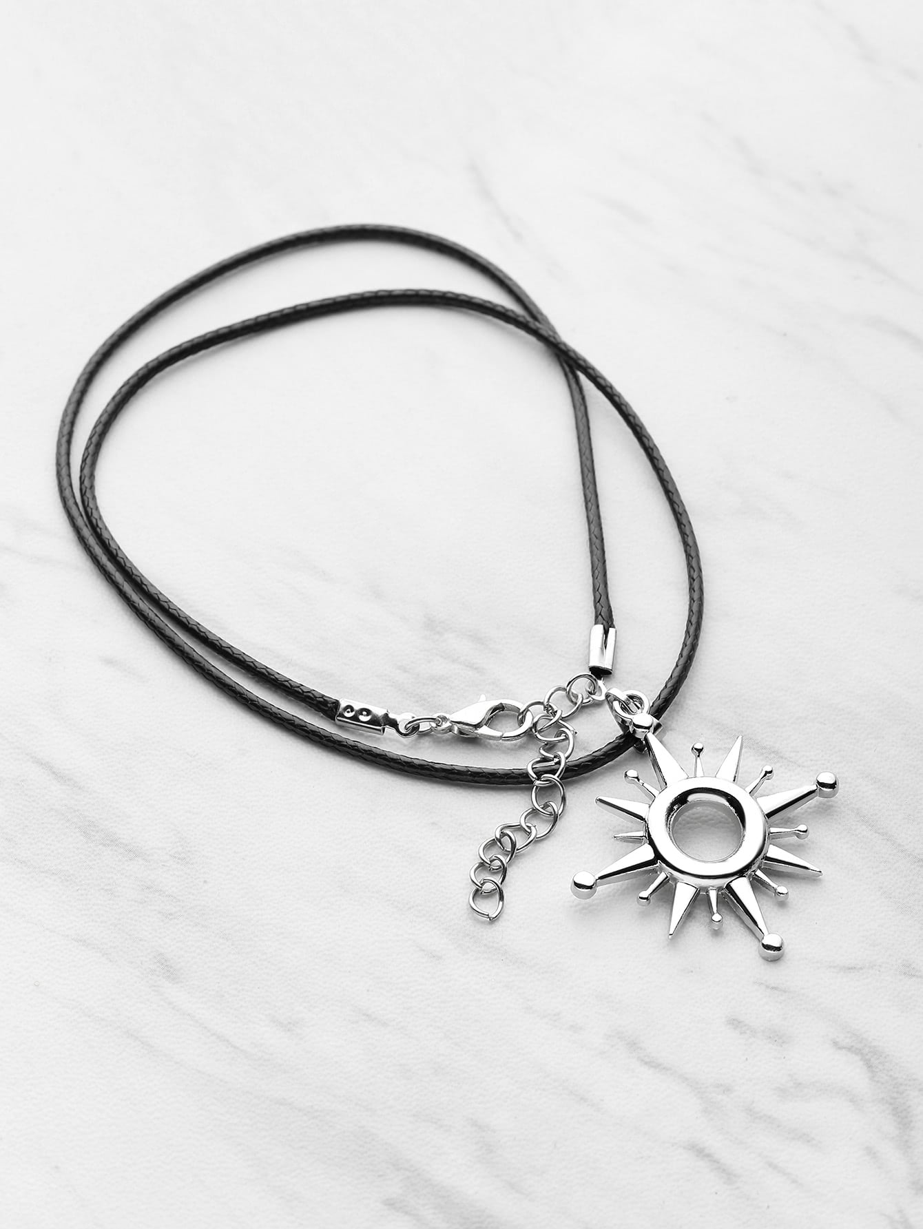 Sun Shaped Pendant Necklace