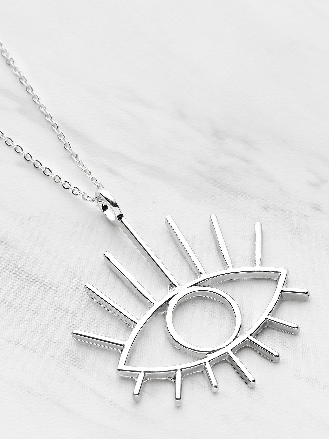 Eye Shaped Pendant Necklace punk eye shaped pendant women men s necklace