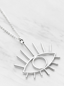 Eye Shaped Pendant Necklace