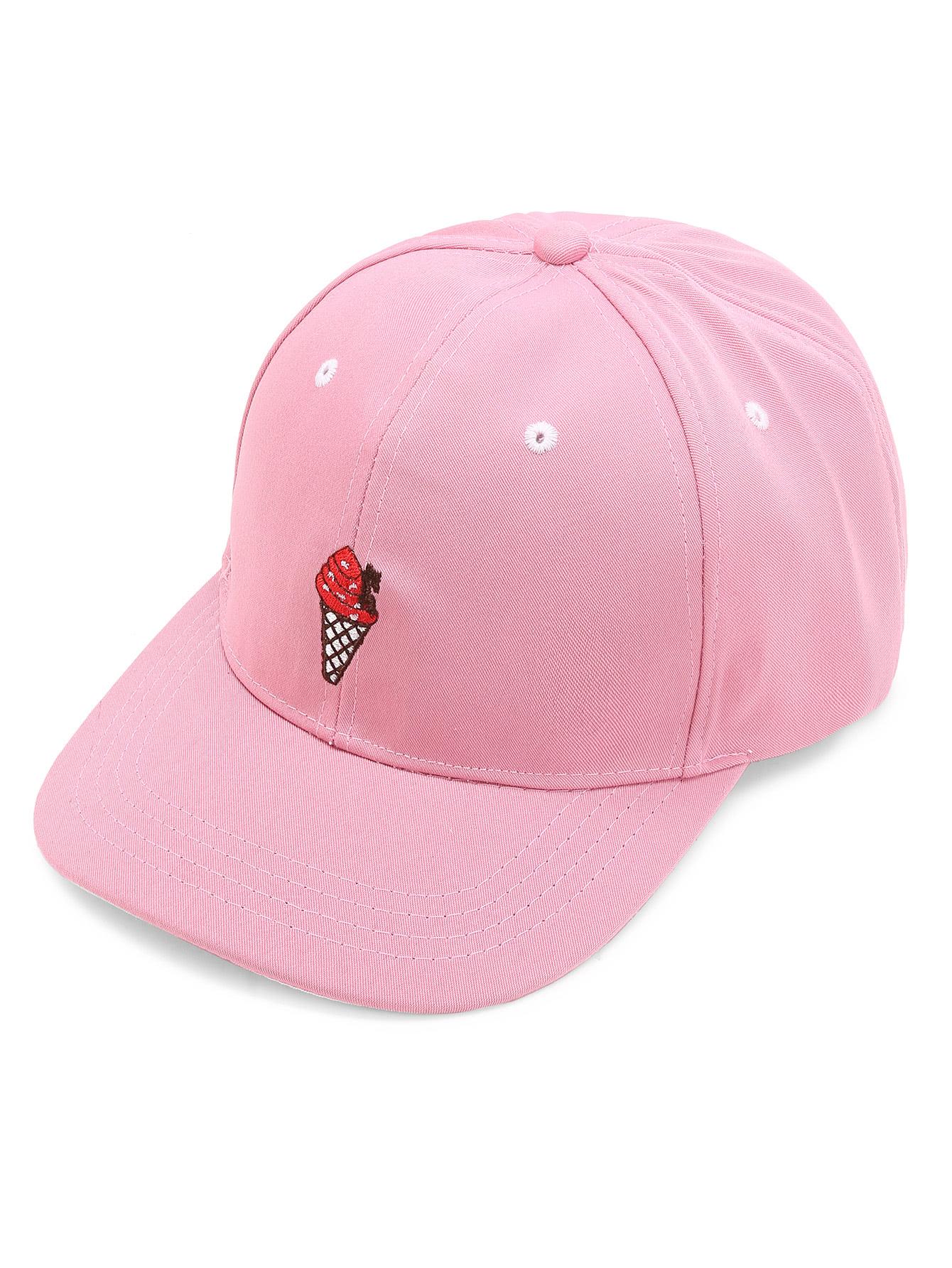 Ice Cream Embroidery Baseball Cap