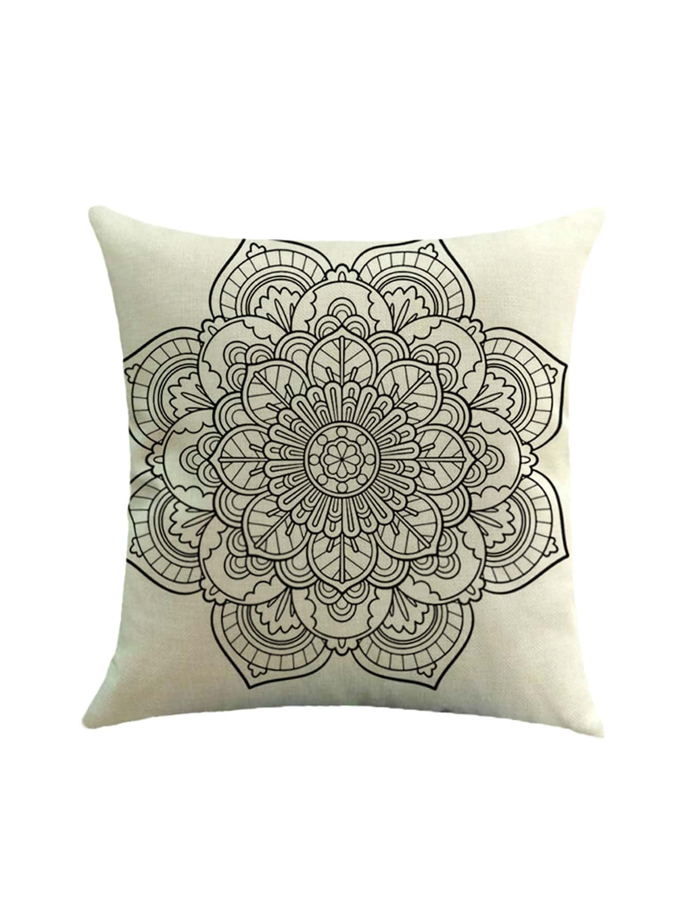Фото Lotus Flower Print Pillowcase Cover. Купить с доставкой