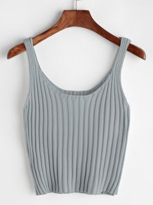 Ribbed Tank Top ROMWE