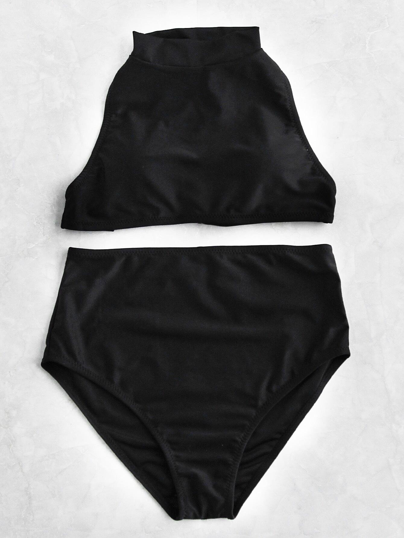 Фото Mock Neck High Waist Bikini Set. Купить с доставкой